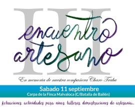 Cartel III Encuentro Artesano